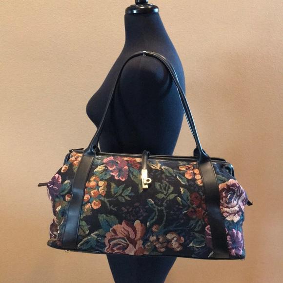 Handbags - Vintage Tapestry Floral Weekender Doctor Bag FIRM 59129eb09405b